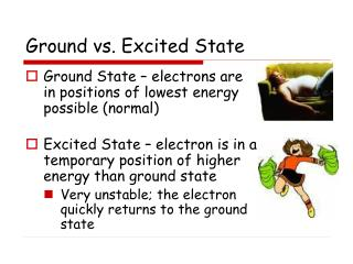 Ground vs. Excited State