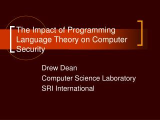 The Impact of Programming Language Theory on Computer Security
