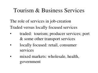 Tourism & Business Services