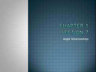 Chapter 1 Section 7