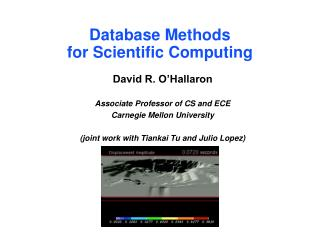 Database Methods  for Scientific Computing