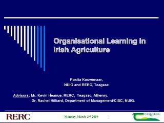 Organisational Learning in Irish Agriculture
