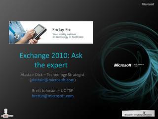 Exchange 2010: Ask the expert