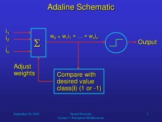 Adaline  Schematic