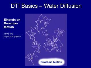 DTI Basics – Water Diffusion