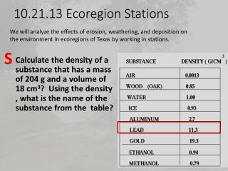 10.21.13  Ecoregion  Stations