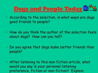 Dogs and People Today