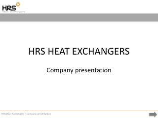 HRS HEAT EXCHANGERS