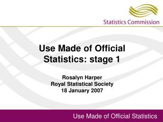 Use Made of Official Statistics