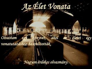 Az Élet Vonata Olvastam egy könyvet, ahol az életet egy vonatutazáshoz hasonlították .