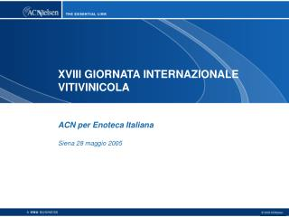 XVIII GIORNATA INTERNAZIONALE  VITIVINICOLA