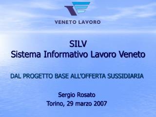 SILV Sistema Informativo Lavoro Veneto