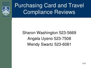 Purchasing Card and Travel Compliance Reviews