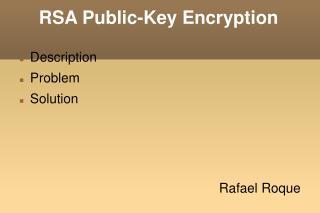 RSA Public-Key Encryption