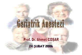 Geriatrik Anestezi