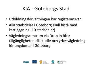 KIA - Göteborgs Stad
