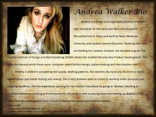 Andrea Walker Bio