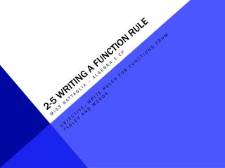 2-5 writing a function rule