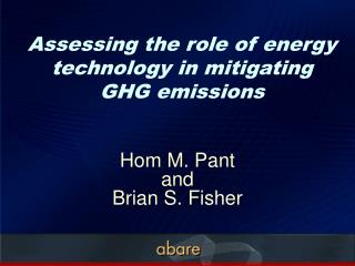 Assessing the role of energy technology in mitigating  GHG emissions