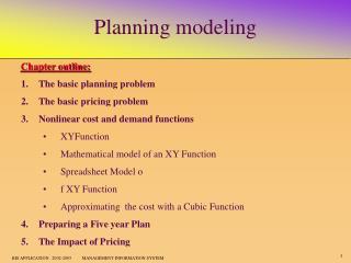 Planning modeling