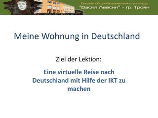 Meine Wohnung  in Deutschland