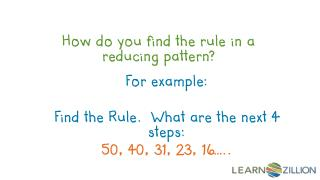 How do you find the rule in a reducing pattern?