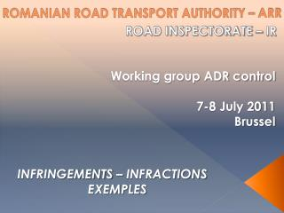 ROMANIAN ROAD TRANSPORT AUTHORITY – ARR