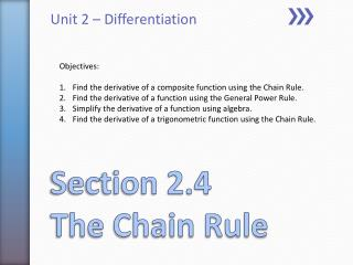 Section 2.4 The Chain Rule