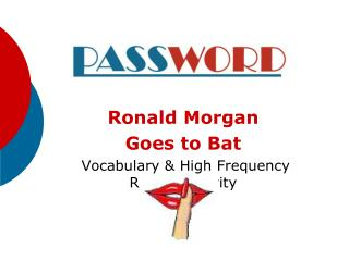Ronald Morgan  Goes to Bat  Vocabulary & High Frequency Review Activity