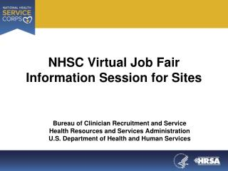 NHSC Virtual Job Fair  Information Session for Sites