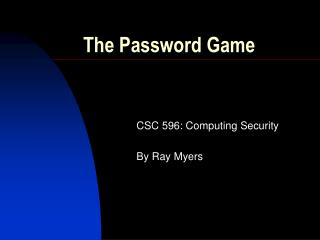 The Password Game