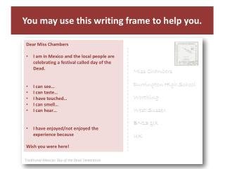 You may use this writing frame to help you.