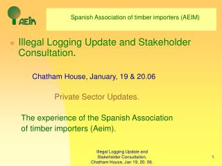 Spanish Association of timber importers (AEIM)