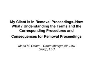 Maria M. Odom – Odom Immigration Law Group, LLC