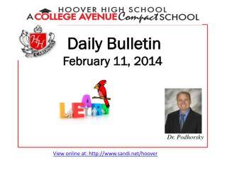 Daily Bulletin February 11, 2014