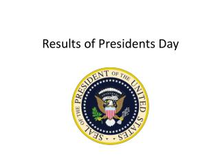 Results of Presidents Day