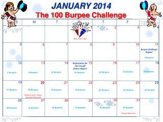 JANUARY  2014 The 100  Burpee  Challenge