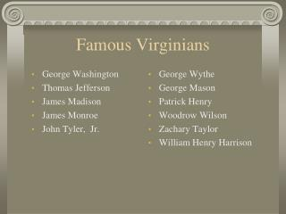 Famous Virginians