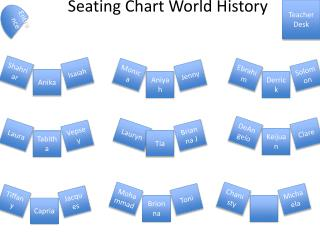 Seating Chart World History