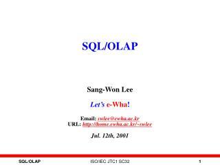 SQL/OLAP