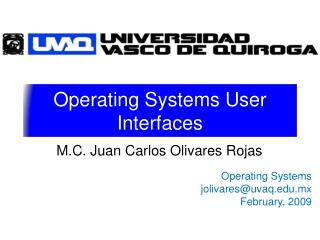 Operating Systems User Interfaces