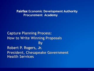 Fairfax  Economic Development Authority Procurement  Academy