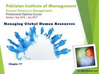 International Human Resource Management and Organization