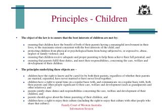 Principles - Children