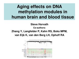 Aging effects on DNA methylation modules in human brain and blood tissue