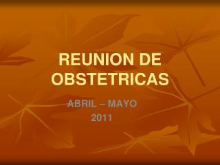 REUNION DE OBSTETRICAS