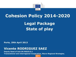 Cohesion Policy 2014-2020