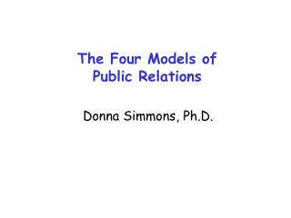 The Four Models of Public Relations