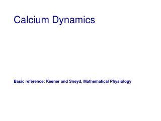 Calcium Dynamics