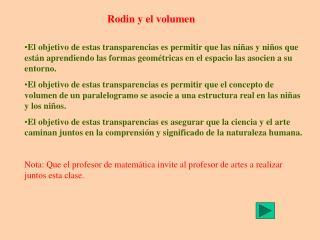 Rodin y el volumen